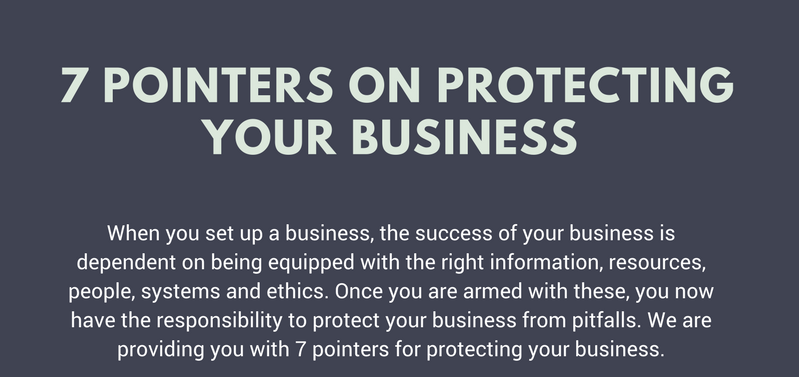 Business Habits (Infographic): 7 Pointers on Protecting Your Business